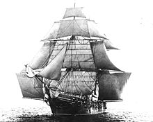 USS Monongahela with a full set of studding sails set, 1862 (Wikimedia Commons)