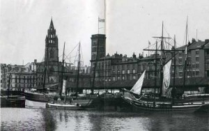 St George's Dock and St Nicholas Church, Liverpool, Brown & Rawcliff (Gjenvick-Gjønvik Archives)