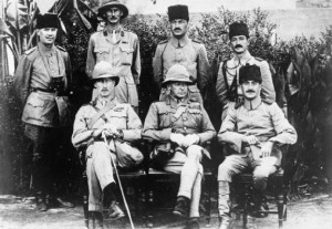 General Charles Townshend with Khalil Pasha and staff shortly after the surrender of Kut (http://www.iwm.org.uk)