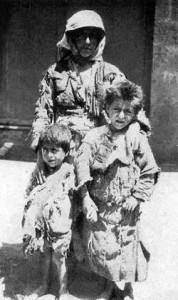 Armenian refugee family