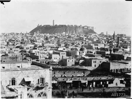 Aleppo c. 1918 (Wikimedia commons)