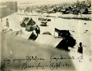 Deportation camp for Armenians, Ras al-'Ain, 1915-16