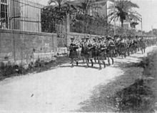 10 October 1918, 2nd Battalion Black Watch (7th Meerut Division) arrive in Beirut after marched 96 miles (154 km) in 8 days from Haifa (Wikimedia)