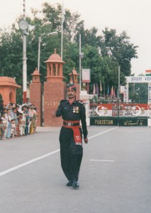 India-Pakistan border post., Wagah, 1998