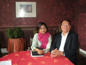 Zhang Jin Shan (Bordeaux's latest wine baron) & Pallavi in his Chateau in France