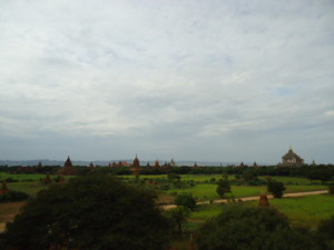 Bagan, with the Ananda temple to the right