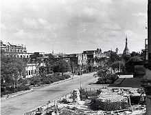 Rangoon, after bombing raid