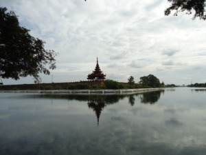 Palace walls and moat, Mandalay