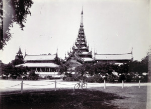 the Nandaw (Royal Palace) at Mandalay in Burma (Myanmar), from the Archaeological Survey of India Collections: Burma Circle, 1903-07.