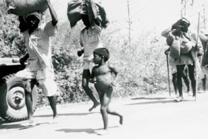 Indian civilians in Burma, fleeing northwards