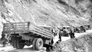 American-made trucks on the Burma Road