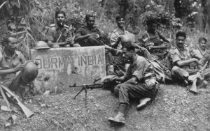 Indian soldiers on the Burma-India border
